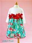 Reindeer Cheer Retro Christmas Dress
