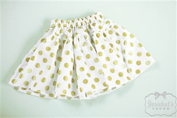 Gold Dot Skirt for girls