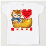 Valentine Kitty Vintage Tee