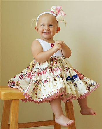 Bitty Hankie Tiered Dress