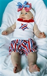 Patriot Stripe Baby Bloomer Set