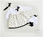 Gold Dot Infant Dress Set