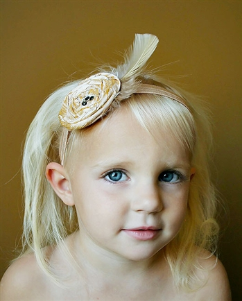 1930's The Ava Headband Honey Silk and Topaz Glitz