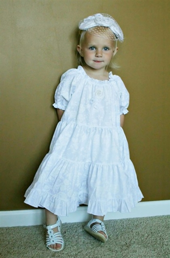 White Summer Portrait Dress