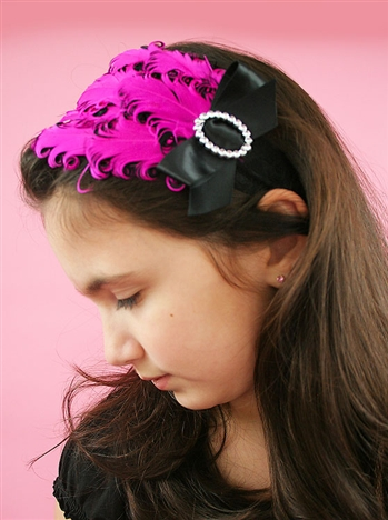 1930s The Mildred Feather Headband