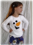 Boy/Girl  Chenille Snowman Tee Shirt