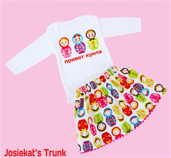 Matryoshka Skirt Set Russian Nesting Doll