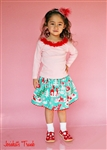 Reindeer Cheer Christmas Skirt Set