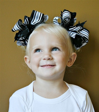 Holiday Classic Black and White Hairbows