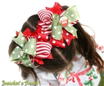 Retro Christmas Bottlecap Hairbows