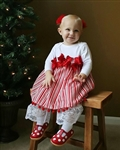 Candy Cane Stripe Christmas Dress