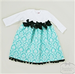 Tiffany Blue Damask Dress