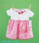 Shabby Pink Toile Babydoll Dress