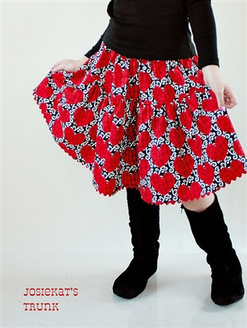 Damask Heart Valentine Skirt