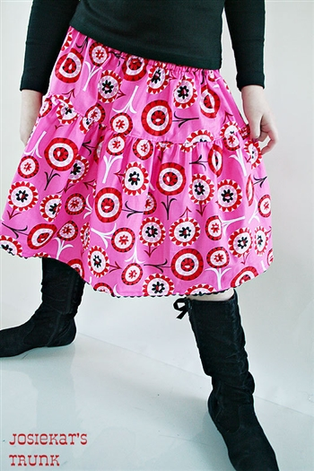 Euro Flower Pop Valentine Skirt