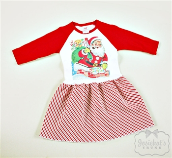 Retro Santa Baseball Dress