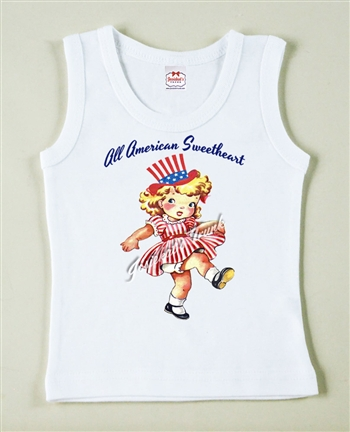 All American Sweetheart July 4th Vintage Tee