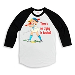 """No Crying in Baseball"" Black White Retro Shirt"
