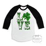 St. Patrick's Day Black White Retro Shirt