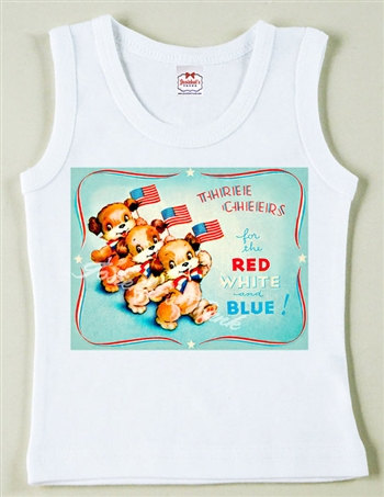 """Three Cheers for the Red, White and Blue"" Vintage Tee"