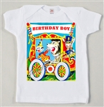 Circus Wagon Birthday Boy Vintage Tee