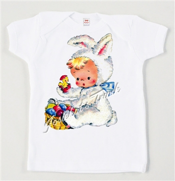 Retro Easter Bunny Suit Vintage Tee