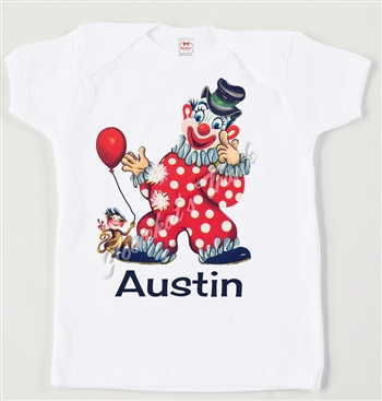 Retro Personalized Circus Clown Vintage Tee