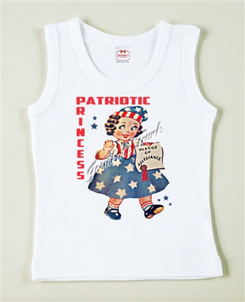 Patriotic Princess July 4th Vintage Tee