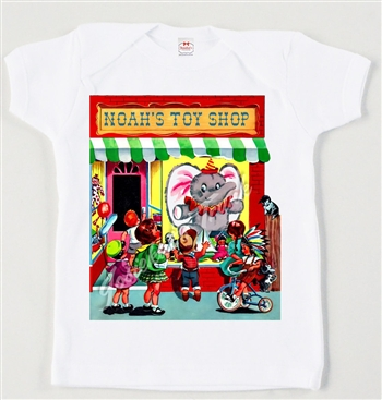 Retro Personalized Toy Store Vintage Tee