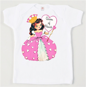 "Retro ""Queen of Hearts"" Vintage Valentine Tee"