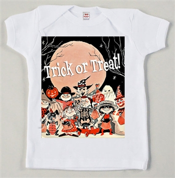 "Retro Halloween Trick or Treat ""Name"" Personalize Vintage Tee"