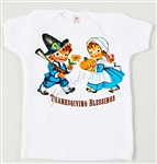 Retro Thanksgiving Boy and Girl Vintage Tee