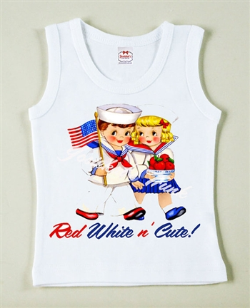Red White n' Cute Vintage Tee