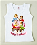 Vintage Birthday Party Cake Vintage Tee