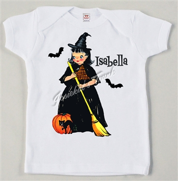 Retro Personalized Witch Vintage Tee